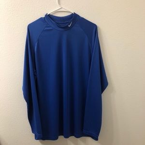 Nike long sleeve Dri fit shirt blue large